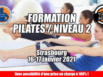 Pilates niveau 2 / 16-17 janvier / Strasbourg